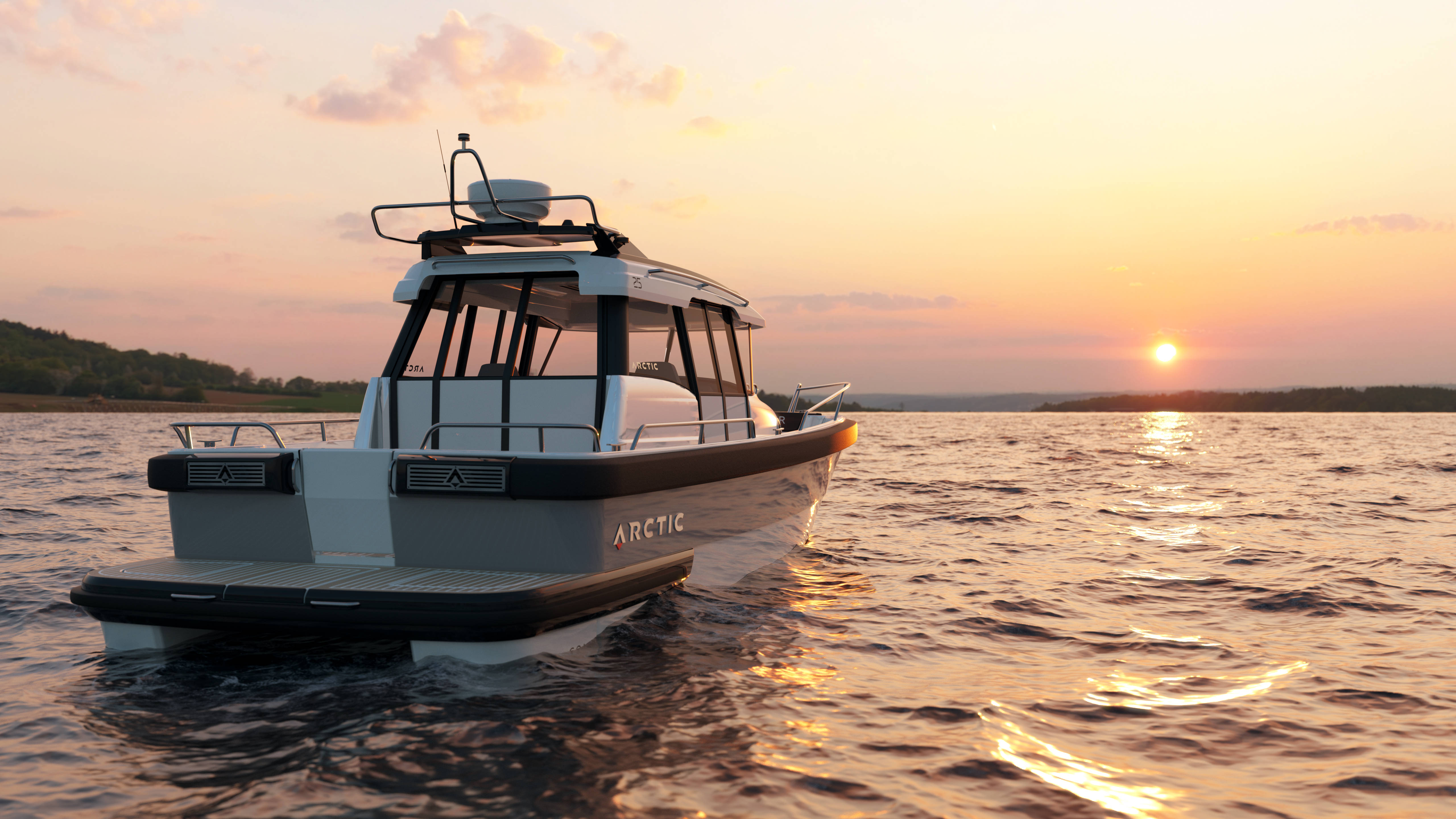 Tender Jacht Boot Schip render visualisatie FvdB Group