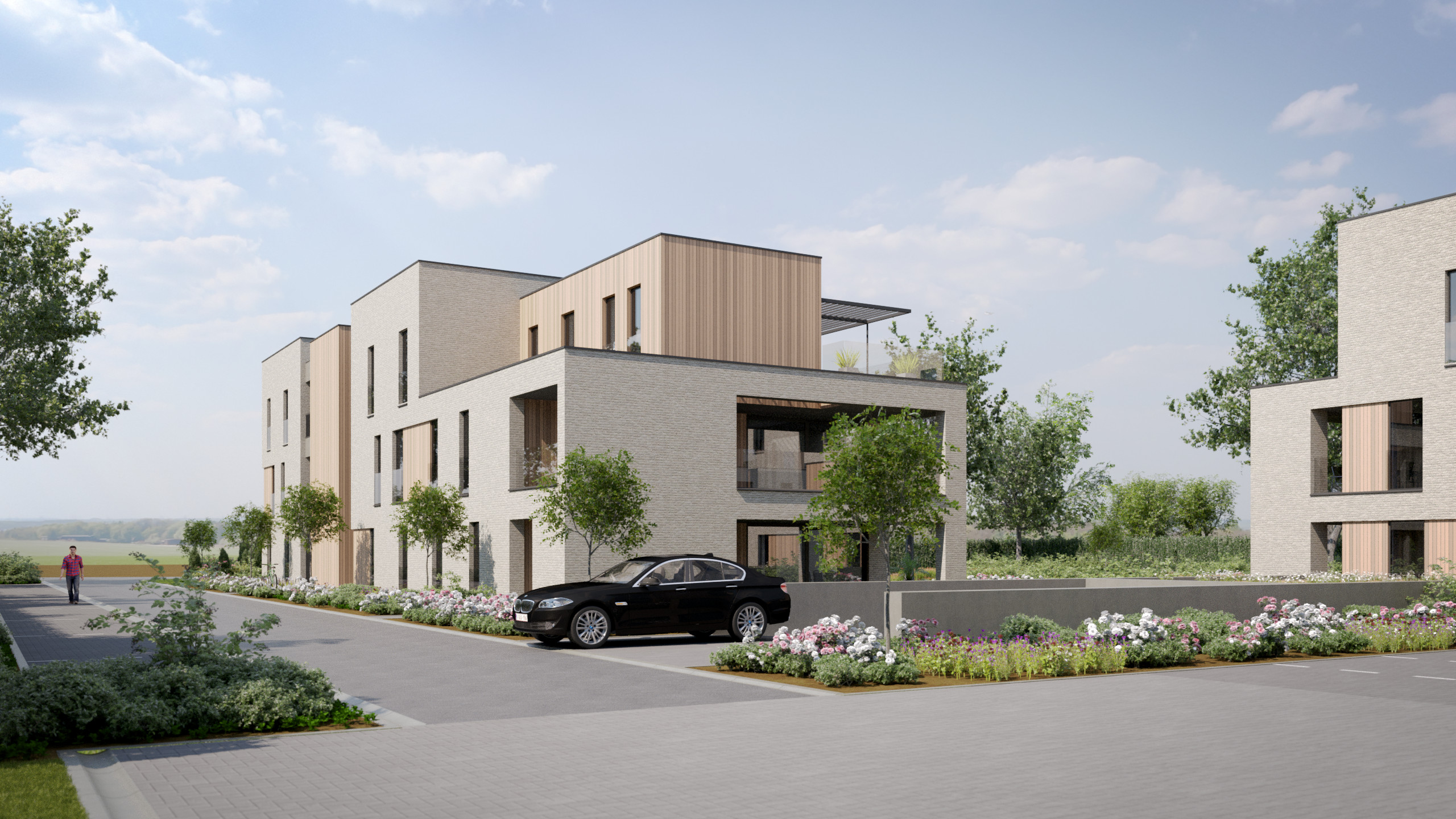 Exterieur exterior render visualisatie FvdB Group